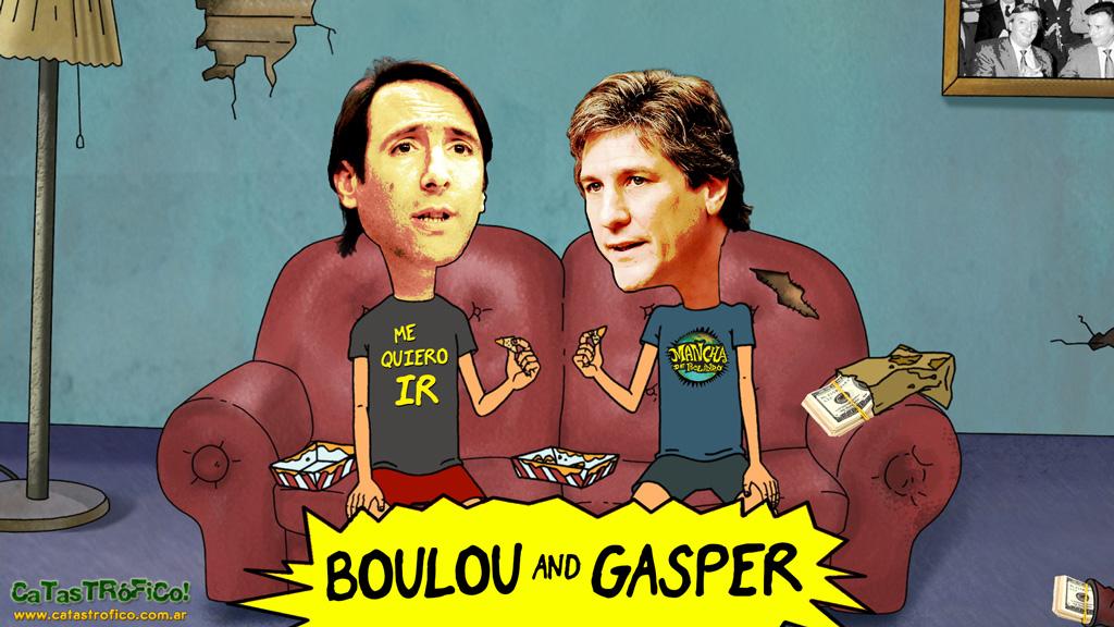 Amado Boudou y Hernán Gaspar Lorenzino